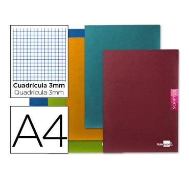 Libreta Scriptus 90 g/m² Din A-4 c/3mm. Liderpapel 52157