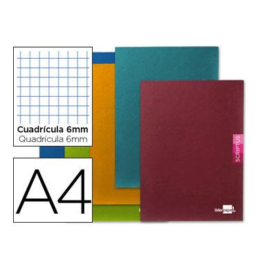 Libreta Scriptus 90 g/m² Din A-4 c/6mm. Liderpapel 52159