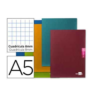 Libreta Scriptus 90 g/m² Din A-5+ c/8mm. Liderpapel 52165