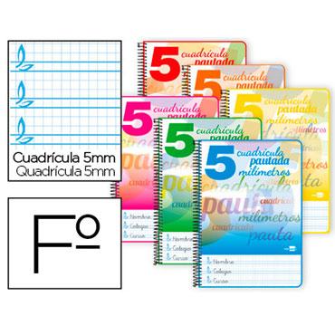 Cuaderno Pautaguía Fº pauta 5mm. Liderpapel 58579