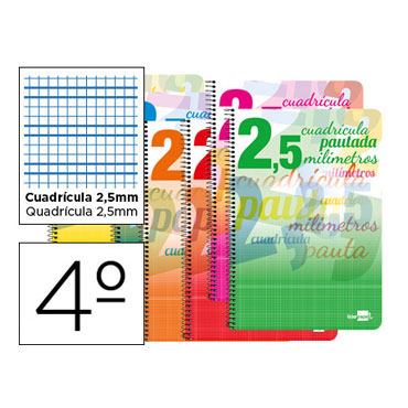Cuaderno Pautaguía 4º pauta 2,5mm. Liderpapel 58591