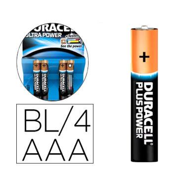 BL4 pilas alcalinas Duracell Ultra Power LR03/AAA 59556