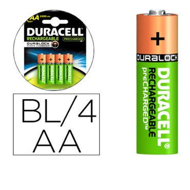 BL4 pilas alcalinas recargables Duracell Stay Charged LR6/AA 59561
