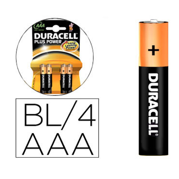 BL4 pilas alcalinas Duracell recargables LR03/AAA 59565