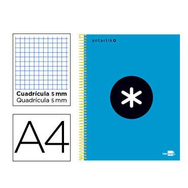 Cuaderno espiral A4 120HJ c/5 azul Antartik Liderpapel 74582