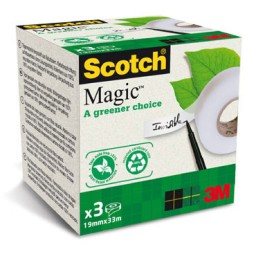 3 cintas adhesivas magica 19 mm. x 33 m. Scotch