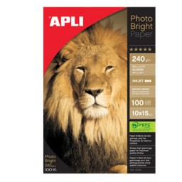Papel Photo Bright 240g 10x15 CJ100 Apli