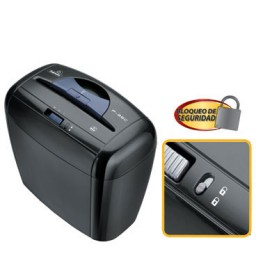 Destructora papel Fellowes P-35C negra uso ocasional