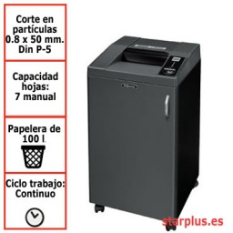 Destructora papel Fellowes 3250HS departamental uso continuo &4617201