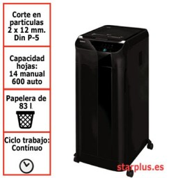Destructora papel Fellowes Automax 600M automática microcorte 4657401