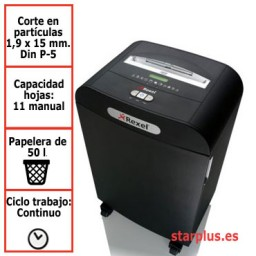 Destructora Rexel Mercury RDM1150 con microcorte para uso departamental