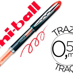 Rotulador uni-ball Vision UB-205 rojo 0,5 mm.