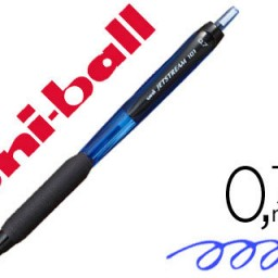 Boligrafo uni-ball Jetstream retráctil SXN-101 0,7 mm azul.
