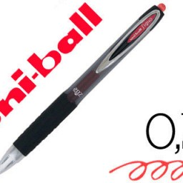 Boligrafo uni-ball signo UMN-207 retráctil 0,7 mm. rojo.