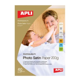 Papel Photo Satin 200 g/m2 60HJ Din A-4 Apli