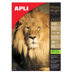 Papel PHOTO BRIGHT 240 g/m² 60HJ Din A-4 Apli 04137