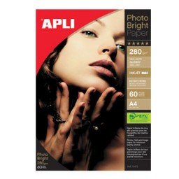 Papel PHOTO BRIGHT 280 g/m² 60HJ Din A-4 Apli 10413