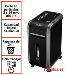 Destructora papel Fellowes 99Ms uso profesional 4609101