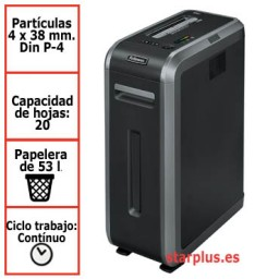 Destructora papel Fellowes 125Ci uso profesional 4612001