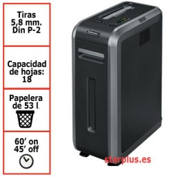 Destructora papel Fellowes 125i uso profesional 4613001