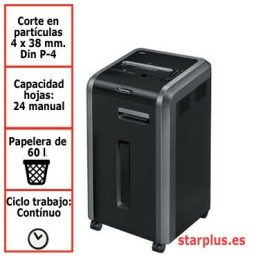 Destructora papel Fellowes 225Ci departamental uso continuo 4622001