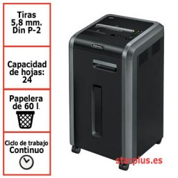 Destructora papel Fellowes 225i departamental uso continuo 4623001