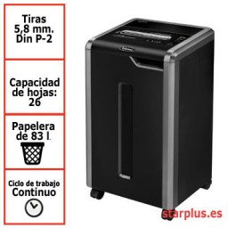 Destructora Fellowes 325i para uso departamental
