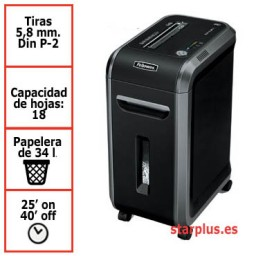 Destructora papel Fellowes 90S uso profesional 4690101