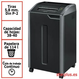 Destructora Fellowes 425i para uso departamental