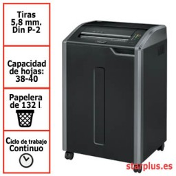 Destructora Fellowes 485i para uso departamental