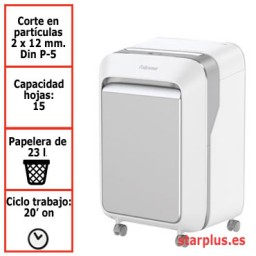 Destructora papel Fellowes LX211 blanca uso moderado 5050301