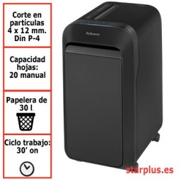Destructora papel Fellowes LX220 negra uso moderado 5502601
