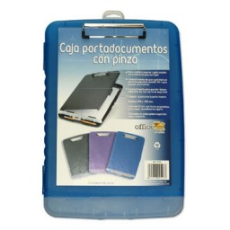 Caja portadocumentos con pinza azul Office Box 9528