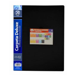 Carpeta 20 fundas negra Office Box 2169
