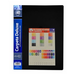 Carpeta 40 fundas negra Office Box 4169