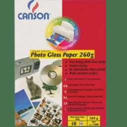 Photo Gloss 260g A4 PQ10 Canson